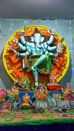 Sri Ganesh, Lord Ganesha, Ganesha Sketch, Lord Shiva Statue, Ganesh Idol, Ganesh Wallpaper, Radha Krishna Pictures, Goddesses, Festivals