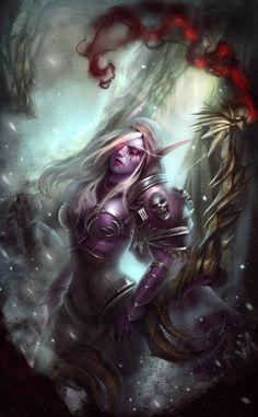 World of Warcraft Art — Sylvanas Windrunner [Artist: Vladyslav Kutuzov ]. Warcraft Heroes, Warcraft Legion, Warcraft Art, World Of Warcraft Wallpaper, World Of Warcraft Characters, Sylvanas Windrunner, Female Elf, Digital Art Anime, Female Warriors