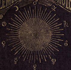 "nemfrog: ""Radiating sun. Elements of meteorology. pt. II. 1875. Book cover, detail. """