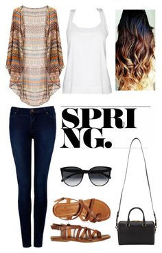 """""""#30 Spring"""" by rosaisela-98 on Polyvore featuring moda, STELLA McCARTNEY, Forever New, CÉLINE, Yves Saint Laurent y American Eagle Outfitters"""