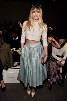 Jessica Hart - Front Row At Zimmermann Fall 2015 - February 13, 2015