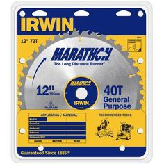 Irwin Marathon 14082 12 inch Marathon Miter and Table Saw Blades, Multicolor