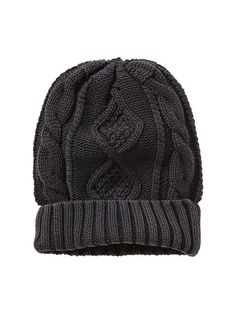 Cable knit beanie Product Image