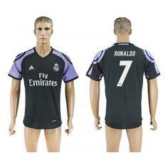 Real Madrid 16-17 Cristiano Ronaldo 7 Tredje Tröja Korta ärmar  #Billiga Fotbollströjor