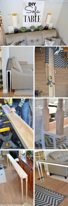 Check out the tutorial: #DIY Sofa Table @Industry Standard Design