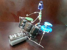 E Craft, Crafty Craft, Diy Electronics, Electronics Projects, Metal Crafts, Recycled Crafts, Metalarte, Drums Art, Computer Art
