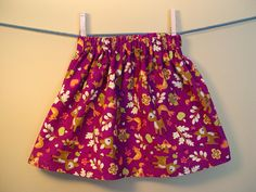 easy girl's skirt sewing tutorial