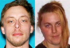 FILE - This file photo combination made with undated photos provided by the Las Vegas Metropolitan Police Department shows Jerad Miller, left, and his wife, Amanda Miller. Investigators in Las Vegas are studying videos and a range of other social media posts by Jerad Miller, 31, as they try to untangle what led him and his 22-year-old wife to gun down two police officers and a civilian before taking their own lives. (AP Photo/Las Vegas Metropolitan Police Department, File)