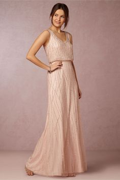 pink sparkly bridesmaids dress Brooklyn Dress in blush by Adrianna Papell for BHLDN Sparkly Bridesmaid Dress, Wedding Bridesmaids, Bridesmaid Dresses Long Champagne, Blush Pink Bridesmaid Dresses, Blush Weddings, Vestido Convertible, Bridal Party Dresses, Dress Wedding, Bride Dresses