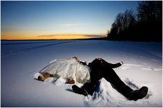 I know you want to do snow angels on your wedding day! #mammothweddings #weddingwednesday #winterwedding http://www.mammothmountain.com/weddings