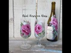 Paint roses on glass. I have finally hopped on the glass painting band wagon! I am loving it and I think you will too. Of course, my favorite thing to paint ...