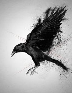 Résultats de recherche d'images pour « crow tattoo »