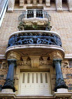 Art Nouveau windows and balconies