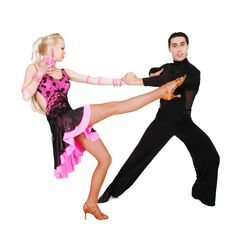 Two Latin Dancers in Action