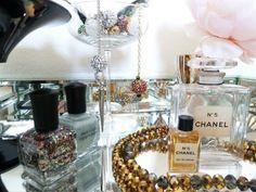 tabletop arrangement - pretty vanity things