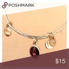 Alex&Ani amethyst charm bracelet Alex&Ani amethyst charm bracelet Alex & Ani Jewelry Bracelets
