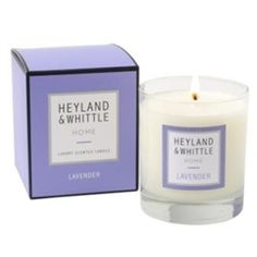 The Heyland & Whittle 'Home' range of candles is a fast and effective way to fill your room with our fantastic new fragrances. Lavender: Sweet and smoky, bees humming in a sunny garden.