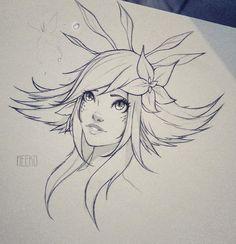 Neeko sketch by Idrilen League Of Legends Characters, Lol League Of Legends, Game Character, Character Concept, Anime Pirate Girl, Desenhos League Of Legends, Legend Drawing, Liga Legend, Chibi Sketch