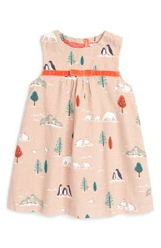 Free shipping and returns on Mini Boden Print Corduroy Pinafore Dress (Baby Girls & Toddler Girls) at Nordstrom.com. A sweet little pinafore-style dress with a pretty print, velvet waistband and pleated skirt is perfect for layering up when the weather turns crisp.