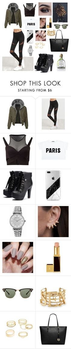 """""""Untitled #270"""" by brie-karitsa-luciano on Polyvore featuring GURU, LE3NO, Miss Selfridge, Emporio Armani, Anne Sisteron, Tom Ford, Ray-Ban, Charlotte Russe and Michael Kors"""