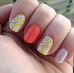 Pastel and pattern manicure #NailCall