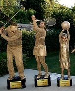 Fun family Halloween costume ideas - Family Trophy Shelf Homemade Costume