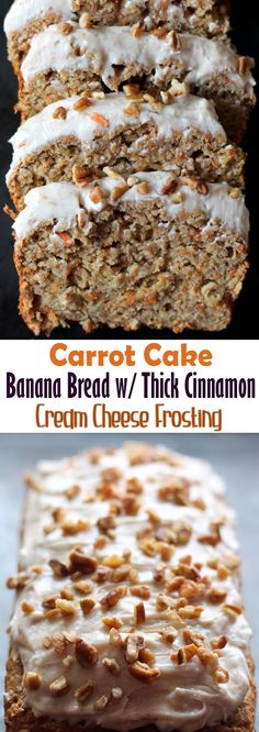 Carrot Cake Banana Bread with Thick Cinnamon Cream Cheese Frosting r1