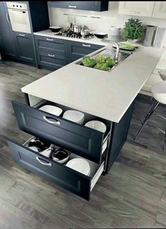 40 Ingenious Kitchen Cabinetry Ideas and Designs 45 Suprising Small Kitchen Design Ideas And Decor . Split - Kitchen Detail White and timber, bl. Kitchen Inspirations, Home Remodeling, Clever Kitchen Ideas, Kitchen Design, Kitchen Renovation, Contemporary Kitchen Cabinets, Kitchen Cabinetry, Italian Kitchen Cabinets, Contemporary Kitchen