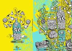 Ilustrações vibrantes do estúdio argentino Zafirologia.