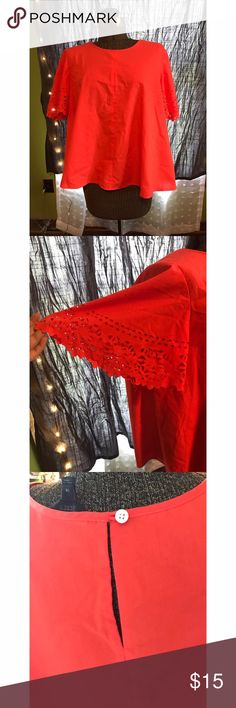 J. Crew blouse Burnt orange/ red mix. Beautiful color and in great condition J. Crew Tops Blouses