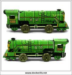 G.T.P. 511 Railway Engine / Locomotive, Vintage Tin Toy, Glamtoy, Great Britain.