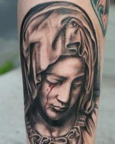 25 Inspirational Virgin Mary Tattoos