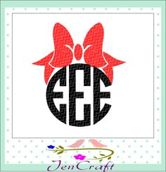 Bow monogram Frames SVG EPS Png DXF, Cricut Design Space, Silhouette Studio, Digital Cut Files by JenCraftDesigns on Etsy