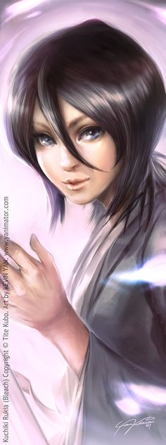 Bleach bookmark - Rukia by *yanimator  shes pretty