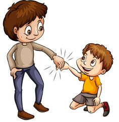 people helping people: An idiom showing a man helping a young boy on a white background School Cartoon, Cartoon Kids, Animals Name In English, School Border, Classroom Rules, People Illustration, Social Stories, Happy New Year 2020, Idioms