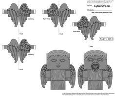Cubee - Weeping Angel 'Wings' by CyberDrone.deviantart.com on @deviantART
