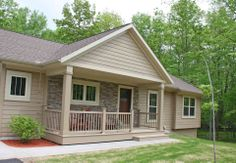 """LP® SmartSide® 8"""" lap siding pre-finished with Diamond Kote® in French Gray."""
