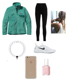 """LAZYYYYYYYY"" by ccaskey055 on Polyvore featuring Balmain, Patagonia, Essie, Agent 18 and NIKE"