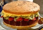 Burger Cake @Albertsons - looking for that 'WOW' dessert? Here it is! You won't believe how easy it is to make & even easier to eat!!! www.hollyclegg.com