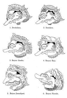 Batik Pattern, Pattern Art, Indonesian Art, Barong, Shadow Puppets, Yogyakarta, Character Drawing, Traditional Art, Line Art