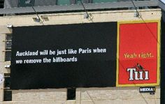 Tui's billboards have caused plenty of controversy over the years. Billboard Signs, Greatest Hits, Auckland, Looking Back, Over The Years, How To Remove, Country, Funny, Pictures