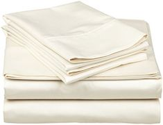 King Flat Sheet Only, 1000 Thread Count Egyptian Cotton 1 Piece Luxury Hotel Flat Sheet/Top Sheet Ivory Satisfaction Guarantee Hotel Bed Sheets, King Bed Sheets, Luxury Bed Sheets, King Size Sheets, Queen Sheets, Luxury Bedding, Rv Bedding, Ivory Bedding, Sheets Bedding