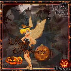Tinkerbell Pictures, Tinkerbell And Friends, Tinkerbell Disney, Peter Pan And Tinkerbell, Tinkerbell Quotes, Disney Princess, Happy Halloween Gif, Halloween Village, Halloween Horror
