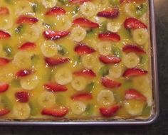 A perfect summer treat. This fruit pizza can be enjoyed anytime of the year but is best when the fruit is at it's peak. It will be a favorite of both young and old.