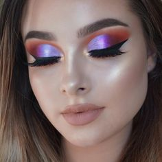 "6,202 Likes, 107 Comments - Jessica-Rose Silicz (@jessicarose_makeup) on Instagram: ""HUDA BEAUTY DESERT DUSK  Guys I absolutely love this palette!!!! Details: Eyes - @hudabeauty…"""