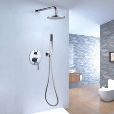 dual rain shower head with handheld - Google Search