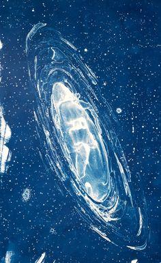 Magallenic Cloud  cyanotype by Lia Halloran