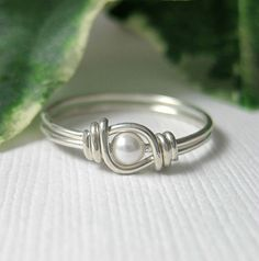 Tiny Size Ring Pinky Ring for Small Fingers Knuckle Ring Wire Wrapped STERLING SILVER Sweet Pea Fingerling