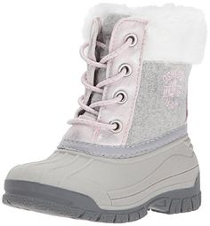 b4ed29b967 OshKosh B Gosh Kids  Hootie Girl s Snow Boot Girl s water resistant snow  boot Side zipper closure Faux fur collar Easy on and off Non-toxic materials