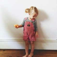 Cute kid outfit and hair.: